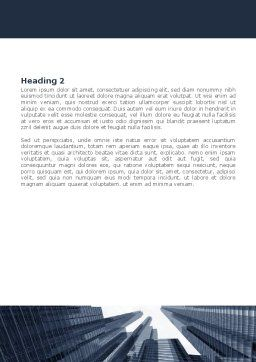 Urban Civilization In Gray Colors Word Template, Second Inner Page, 08433, Construction — PoweredTemplate.com
