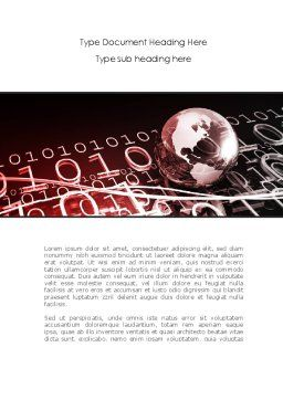 Global Credits Word Template, Cover Page, 08434, Technology, Science & Computers — PoweredTemplate.com
