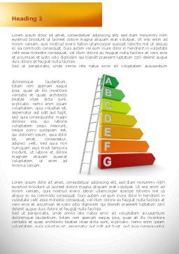 Energy Efficiency Rating Word Template First Inner Page