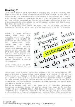 Integrity Business Word Template, First Inner Page, 08436, Business Concepts — PoweredTemplate.com