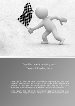 Starting Word Template, Cover Page, 08442, Business Concepts — PoweredTemplate.com