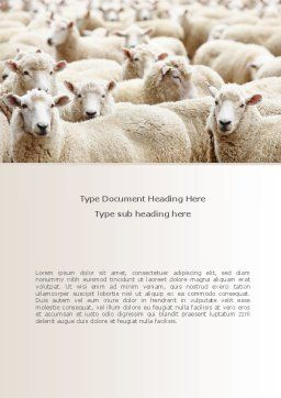 Sheep Flock Word Template Cover Page