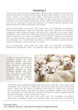 Sheep Flock Word Template First Inner Page