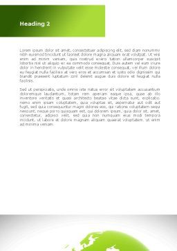 Green Planet Protection Word Template, Second Inner Page, 08447, Religious/Spiritual — PoweredTemplate.com
