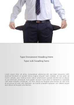 Empty Pockets Word Template, Cover Page, 08450, Financial/Accounting — PoweredTemplate.com