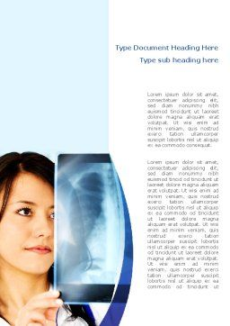 Lungs X-ray Word Template, Cover Page, 08451, Medical — PoweredTemplate.com