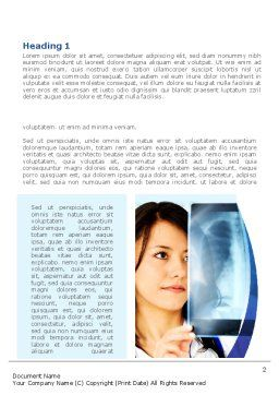 Lungs X-ray Word Template, First Inner Page, 08451, Medical — PoweredTemplate.com