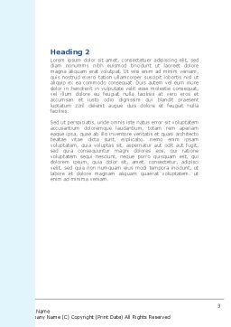Lungs X-ray Word Template, Second Inner Page, 08451, Medical — PoweredTemplate.com