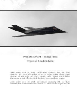 Nighthawk Stealth Word Template, Cover Page, 08452, Military — PoweredTemplate.com