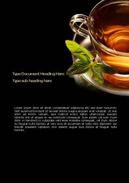 Mint Tea Word Template, Cover Page, 08453, Food & Beverage — PoweredTemplate.com