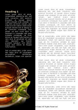 Mint Tea Word Template, First Inner Page, 08453, Food & Beverage — PoweredTemplate.com