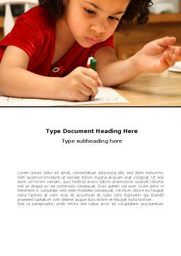 Child Development Word Template, Cover Page, 08456, Education & Training — PoweredTemplate.com