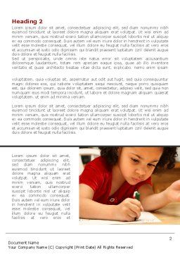 Child Development Word Template, First Inner Page, 08456, Education & Training — PoweredTemplate.com