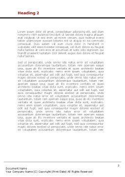 Child Development Word Template, Second Inner Page, 08456, Education & Training — PoweredTemplate.com