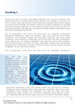 Ripple Effect Word Template, First Inner Page, 08457, Technology, Science & Computers — PoweredTemplate.com