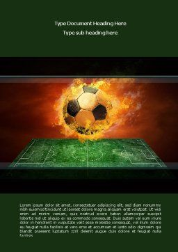 Flaming Football Word Template, Cover Page, 08458, Sports — PoweredTemplate.com