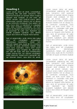 Flaming Football Word Template, First Inner Page, 08458, Sports — PoweredTemplate.com