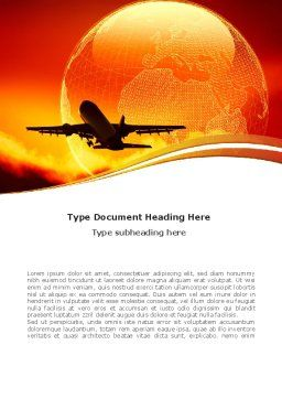 Plane Take Off Word Template Cover Page