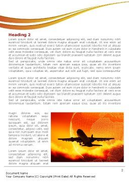 Plane Take Off Word Template First Inner Page