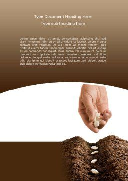 Planting Seeds Word Template, Cover Page, 08461, Business Concepts — PoweredTemplate.com
