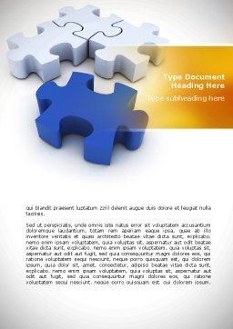 Puzzle Fix Word Template, Cover Page, 08462, Consulting — PoweredTemplate.com