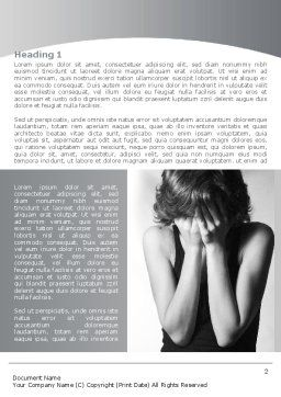 Crying Woman Word Template First Inner Page