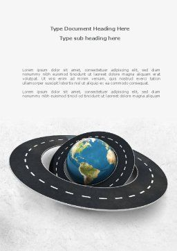 Global Road Word Template, Cover Page, 08469, Careers/Industry — PoweredTemplate.com