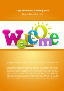 html welcome page template - welcome word template 08470