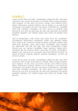 Fire Fighting On Massive Fire Word Template, Second Inner Page, 08472, Nature & Environment — PoweredTemplate.com