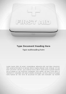 First Aid Box Word Template, Cover Page, 08473, Medical — PoweredTemplate.com