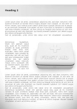 First Aid Box Word Template, First Inner Page, 08473, Medical — PoweredTemplate.com