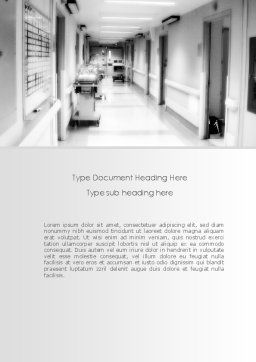 Hospital Corridor Word Template Cover Page