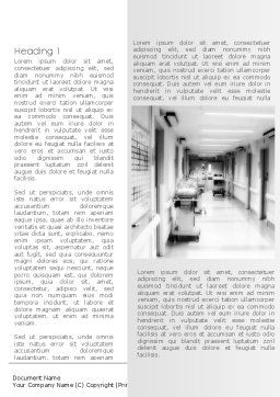 Hospital Corridor Word Template First Inner Page