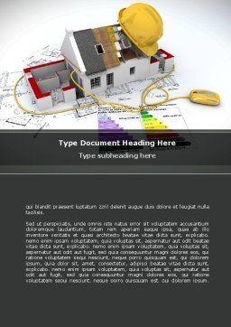 House Building Estimate Word Template, Cover Page, 08477, Careers/Industry — PoweredTemplate.com