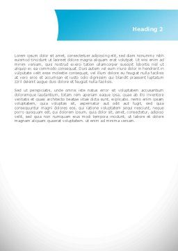 Cycle Arrow Word Template, Second Inner Page, 08480, Business — PoweredTemplate.com