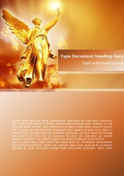 Guardian Angel Word Template Cover Page