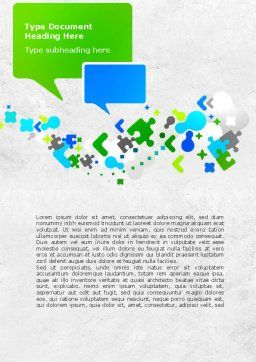 Abstract Network Word Template, Cover Page, 08487, Telecommunication — PoweredTemplate.com
