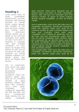 Cell Damage Word Template, First Inner Page, 08488, Medical — PoweredTemplate.com
