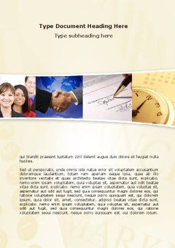 Under Contract Word Template, Cover Page, 08490, Business — PoweredTemplate.com
