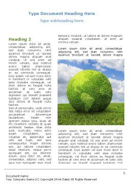 Green Globe Word Template, First Inner Page, 08493, Nature & Environment — PoweredTemplate.com