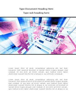 Abstract Environment Word Template, Cover Page, 08496, Construction — PoweredTemplate.com
