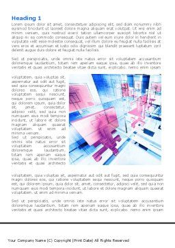 Abstract Environment Word Template, First Inner Page, 08496, Construction — PoweredTemplate.com