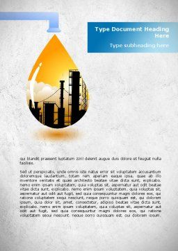 Oil Plant Word Template, Cover Page, 08497, Utilities/Industrial — PoweredTemplate.com