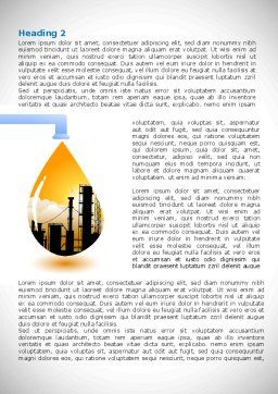 Oil Plant Word Template, First Inner Page, 08497, Utilities/Industrial — PoweredTemplate.com
