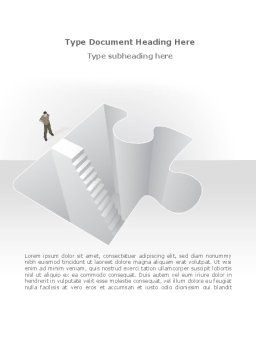 Searching Solutions Word Template, Cover Page, 08499, Consulting — PoweredTemplate.com