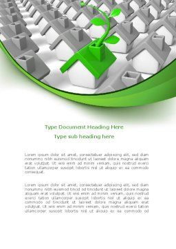 Eco House Germ Word Template, Cover Page, 08502, Careers/Industry — PoweredTemplate.com