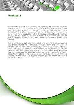 Eco House Germ Word Template, Second Inner Page, 08502, Careers/Industry — PoweredTemplate.com