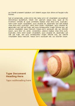 Baseball Pitcher Throw Word Template, Cover Page, 08506, Sports — PoweredTemplate.com