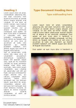 Baseball Pitcher Throw Word Template, First Inner Page, 08506, Sports — PoweredTemplate.com