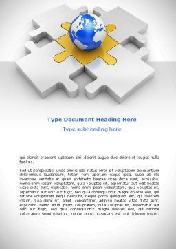 International Solutions Word Template, Cover Page, 08507, Global — PoweredTemplate.com